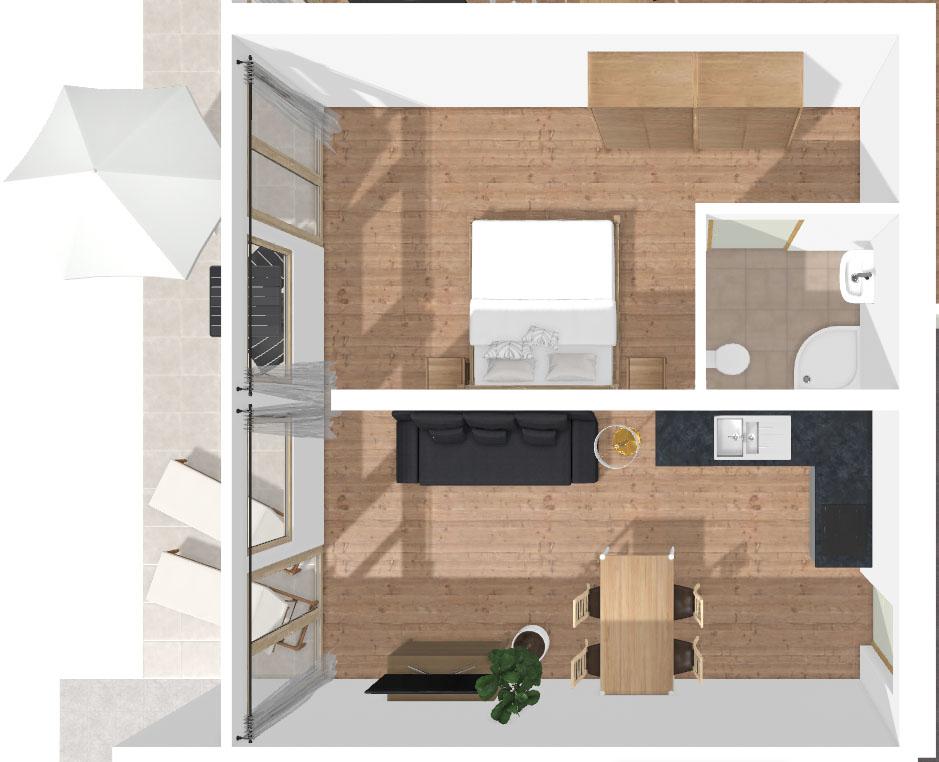 Grundriss Apartment Blaue Schneid