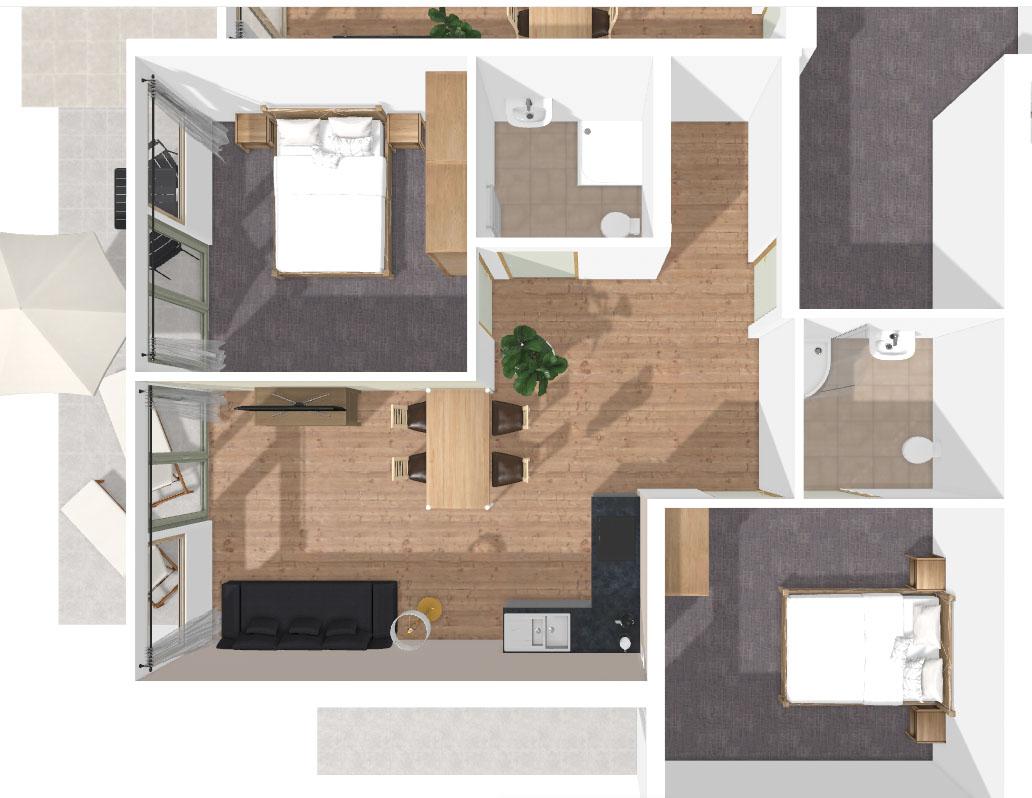 Grundriss Apartment Gonnawand