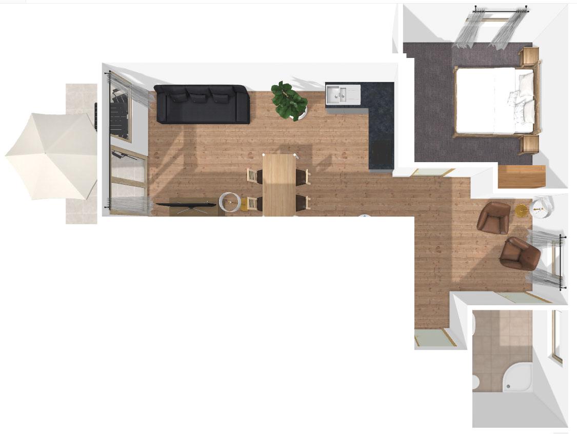 Grundriss Apartment Karspitz